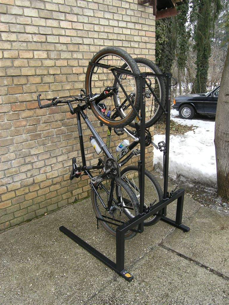 Vertical And Horizontal Bicycle Storage Or Parking Racks