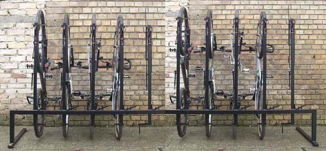 Verticales y horizontales sistemas de aparcamiento para for Como guardar la bici en un piso